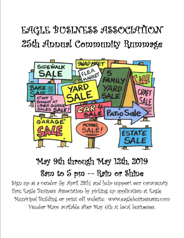 25th Annual Eagle Business Assocation Community Rummage - Rummage